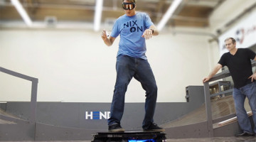 Tony Hawk rides the Hendo Hoverboard